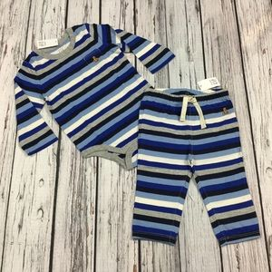 Gap Boys 6 12 18 Month Blue Striped Outfit